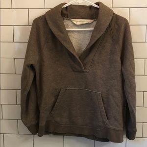 J. Crew Brown Sweatshirt Top Medium